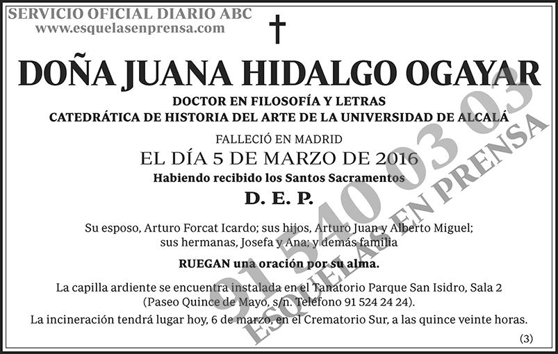 Juana Hidalgo Ogayar